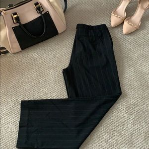 Business black trouser with stripes